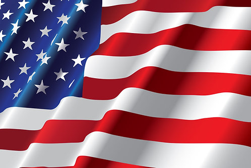 Waving American Flag Cornhole Board Decal Sticker
