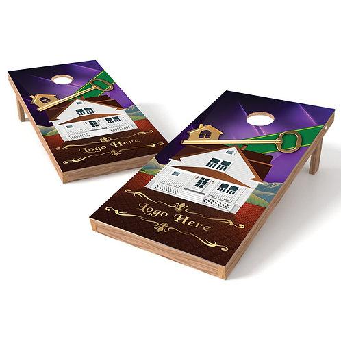 House 1 Welcome Home Cornhole Wrap Baggo Corn Toss Wrap - Personalize Fr
