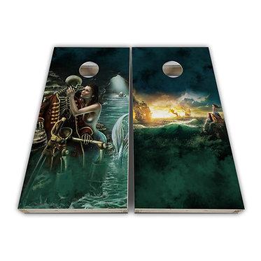 Pirate Ship Treasure Cornhole Wrap
