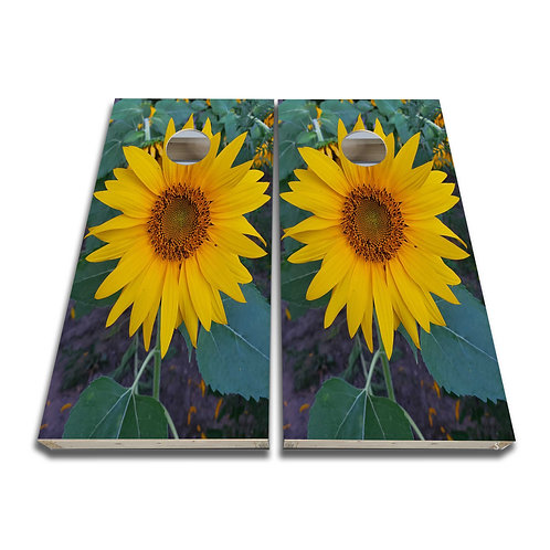 Sunflower Garden Sunflower Cornhole Board Game Set Bags Game Set
