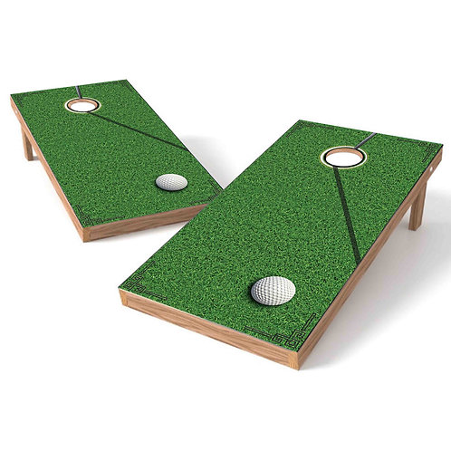 Golf Ball on Green Cornhole Wrap