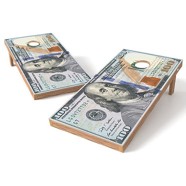 100 Dollar Bill Cornhole Wrap