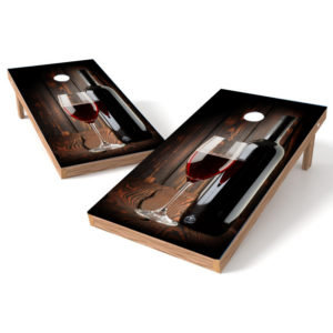 Wine on wood Cornhole Wrap