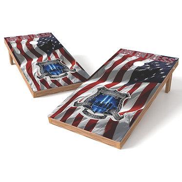 911 Relentless Cornhole Board Wrap
