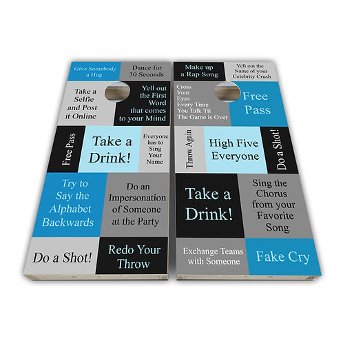 Take a Drink Drinking Game Cornhole Board Set Baggo Set