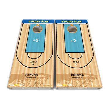 Basketball Court Cornhole Wrap Cornhole Game Decal - Play Rules Provided