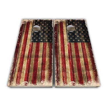 Distressed American Flag Baggo Skin Cornhole Wrap Decal