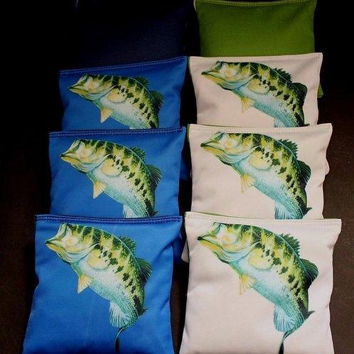 Large Mouth Bass Cornhole bags, set of (8)