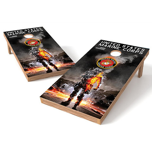 Marines Under Fire Cornhole Wrap - 23 mock