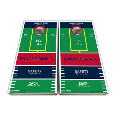 Football Cornhole Wrap Field Goal Cornhole Game Decal - Play Rules Provided