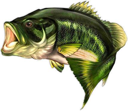 Jumping Bass Large Mouth Bass Cornhole Decal Sticker