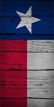 Worn Wood Texas Flag Decal Sticker