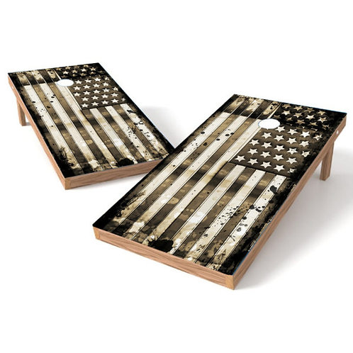 Grunge Stars and Stripes Flag