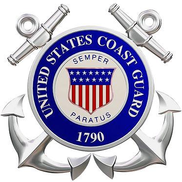 United States Coast Guard Anchor Cornhole Decal Sticker