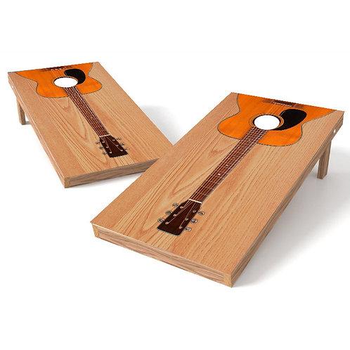 Guitar Custom Cornhole Board Wrap