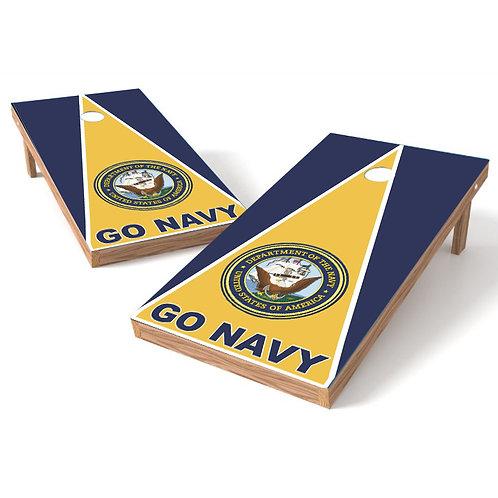 GO Navy Cornhole Wrap