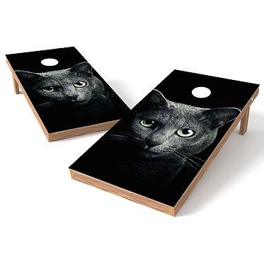 Dazzling Cat Eyes Cornhole Board Wrap