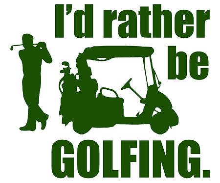 Rather Be Golfing Cornhole Decal Sticker
