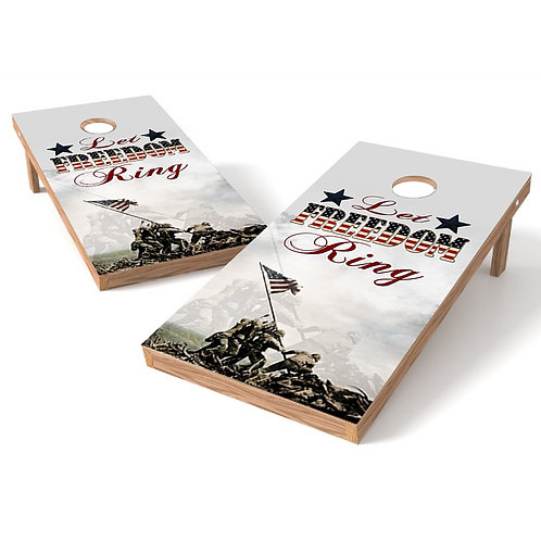 Let Freedom Ring Cornhole Wrap