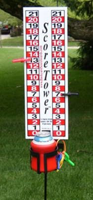 Single ScoreTower - Portable Scoreboard / Drinkholder