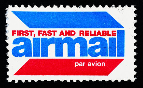 Airmail Box Cornhole Board Decal Sticker
