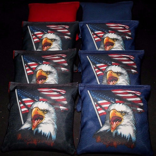 American Eagle Flag Cornhole bags, set of (8)
