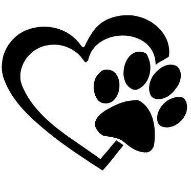 Dog Paw Heart Cornhole Decal Sticker