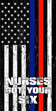 Nurses Flag Got Your Six Flag Cornhole Board Decal Sticker