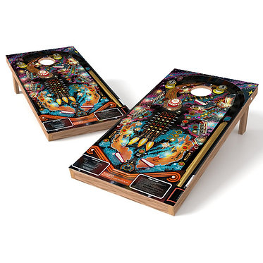 Space Pinball Cornhole Board Wrap