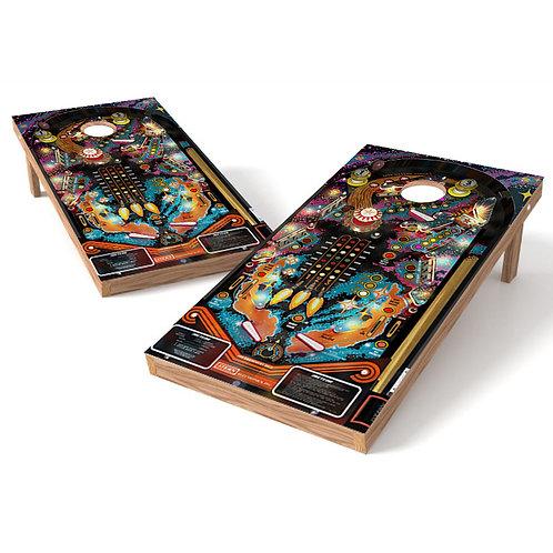 Space Pinball Cornhole Board Wrap