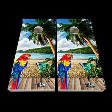 Parrot Margarita Beach Cornhole Wrap Skin