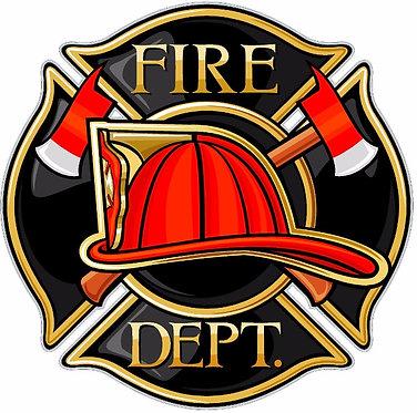 Fire Department Patch Cornhole Board Decal Sticker