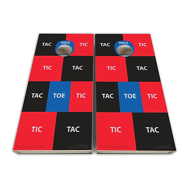 Tic Tac Toe Cornhole Wrap Cornhole Game Decal - Play Rules Provided