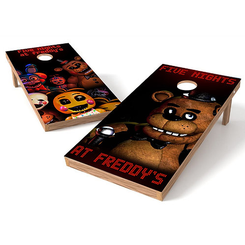 Five Nights at Freddys Cornhole Board Wrap