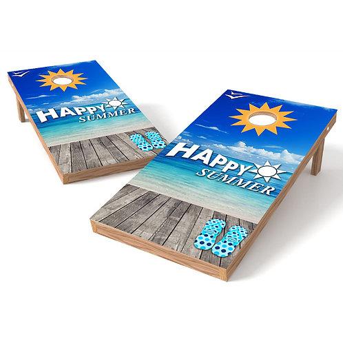 Happy Summer Cornhole Wrap