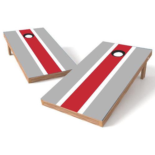 Gray White Red Stripe - Ohio - Customize