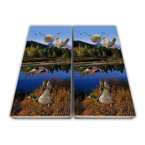 Wild Duck Hunting Cornhole Board Set Baggo Set