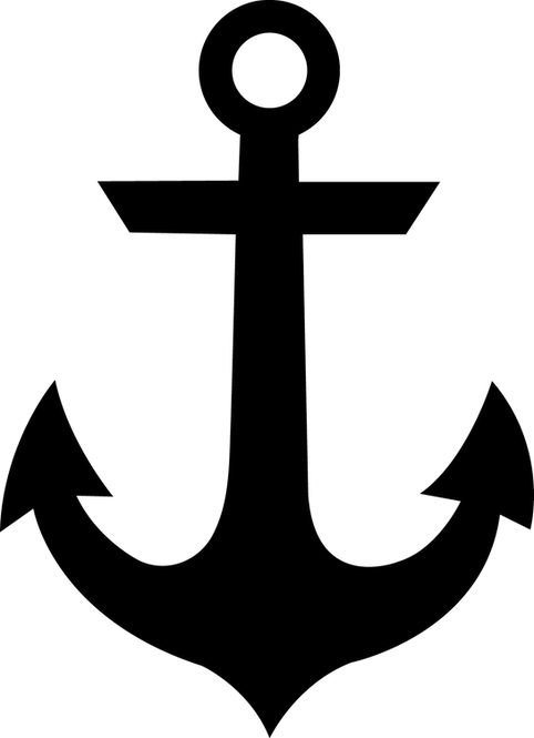 Anchor Cornhole Board Decal Sticker