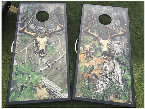 REALTREE EXTRA GREEN SKULL CAMO CORNHOLE BOARDS - Corn Bags -Free Shipping