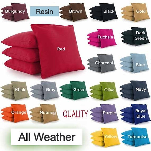 Resin All Weather Cornhole Bags - Pick 2 Colors  (3-5 Days to Ship)