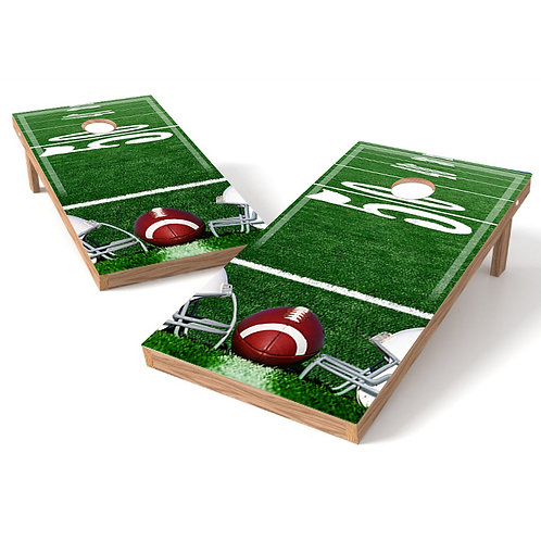 Football 50 Yardline Cornhole Board Wrap