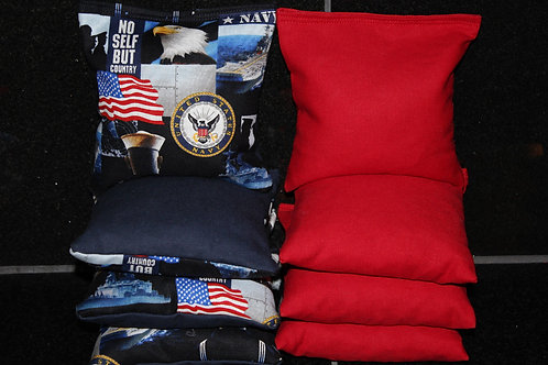 Navy Seals No Self but Country Cornhole bags, set of (8)