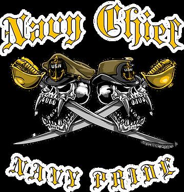 Navy Chief Navy Pride Dual Skull Cornhole Board Decal Sticker