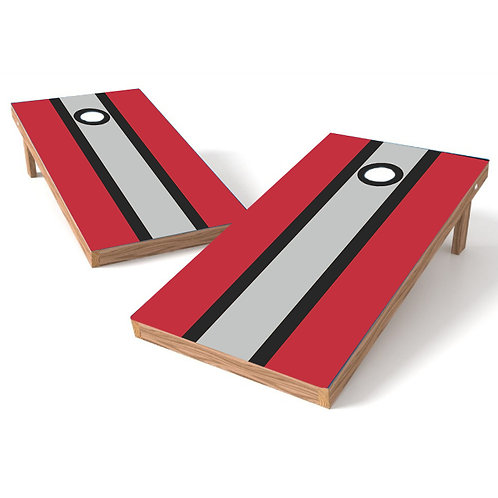 Red Black Gray Stripe - Add Image
