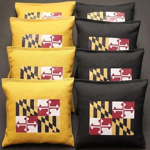 Maryland Flag Cornhole bags, set of (8)