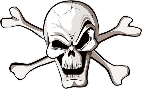 Jolly Roger Skull Cornhole Board Decal Sticker