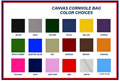 cornhole bag colors baggo set