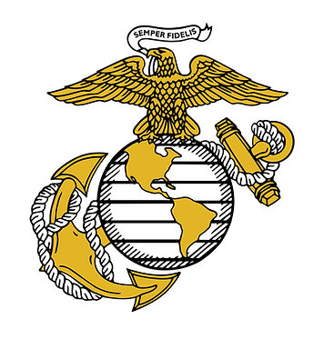 USMC Globe Cornhole Decal Sticker