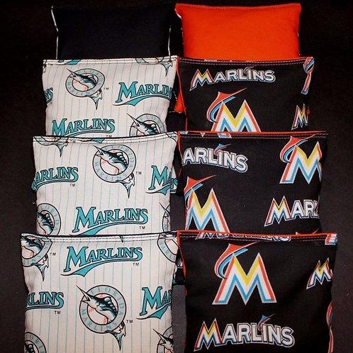 Florida Marlins baseball Cornhole bags, set of (8)