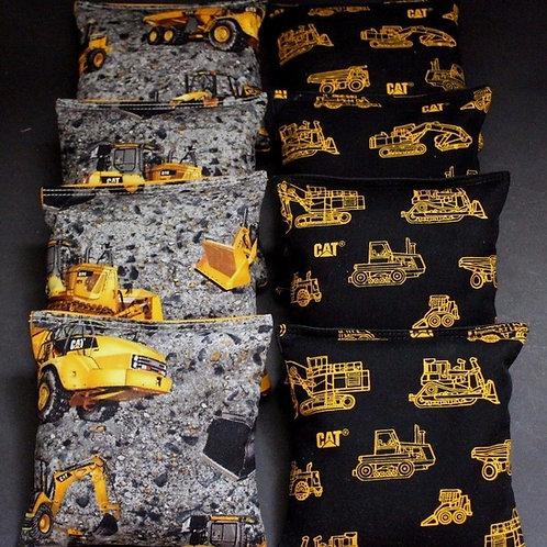 Caterpillar CAT Heavy Equipment Cornhole bags, set of (8)